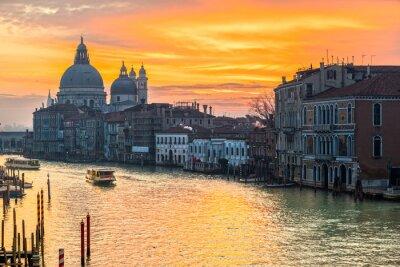 Obraz Grand Canal a baziliky Santa Maria della Salute, Benátky, Itálie