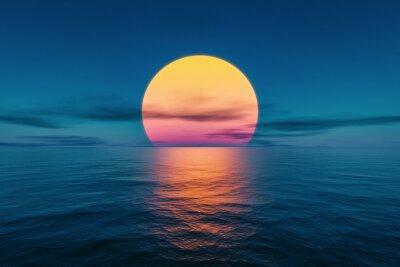 Obraz great sunset over the ocean