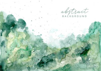 Obraz green abstract watercolor texture background