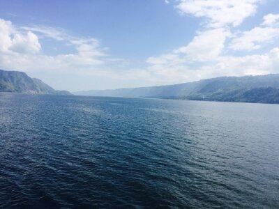 Obraz Grosser Viz mit Bergen und blauen Himmel