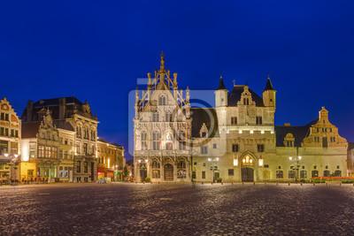 Grote Markt v Mechelenu - Belgie