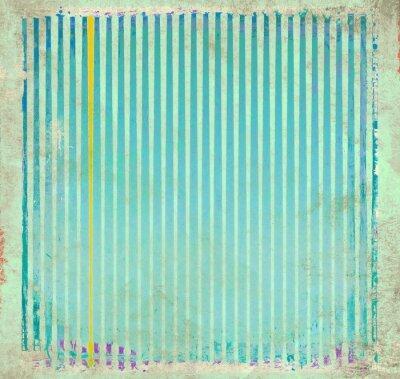 Obraz Grunge blue striped background