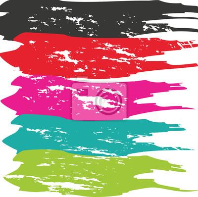 Obraz Grunge Brush Stroke. Vector tah štětcem. Zoufalý tah štětcem. Tah štětcem. Moderní texturou tah štětcem. Suchý tah štětcem.