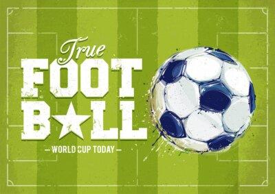 Obraz Grunge fotbal plakát