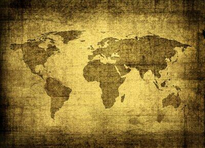 Obraz grunge mapa světa