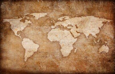 Obraz grunge pozadí mapě světa