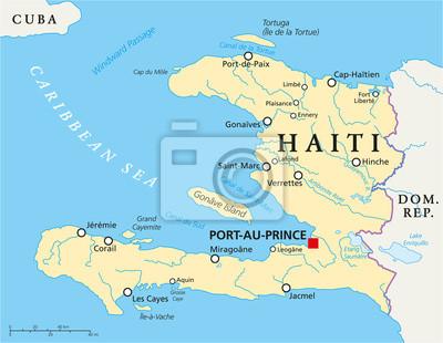Obraz Haiti Politická mapa