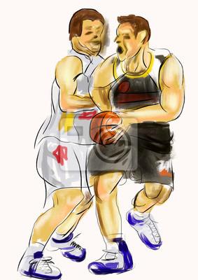 hand draw basketbalista