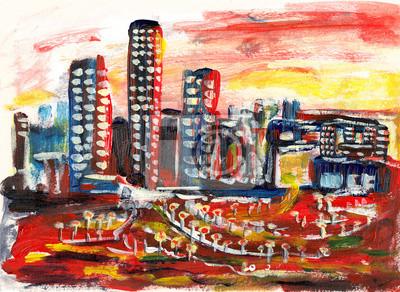 hand draw city