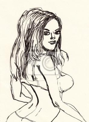 hand draw dívka