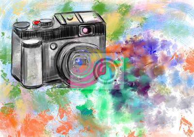 hand draw kamera