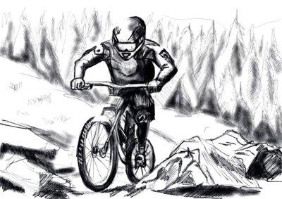 hand draw mtb downhill
