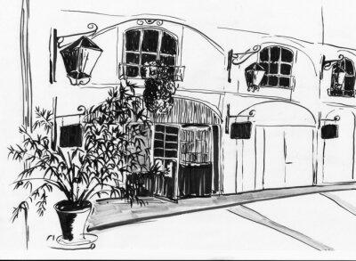 hand draw Pařížská ulice
