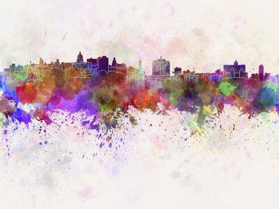 Obraz Havana panorama v akvarelu pozadí