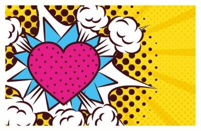 Obraz heart love pop art style