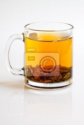 Herbata Zielona liściasta w kubku