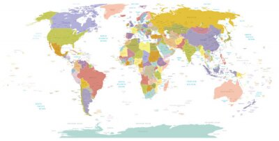 Obraz High Detail World map.Layers použít.