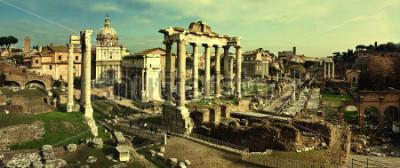 Obraz Historická pohlednice s Foro Romano