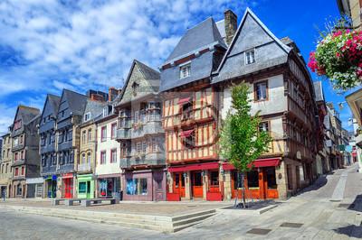 Historické centrum města Lannion, Bretaň, Francie