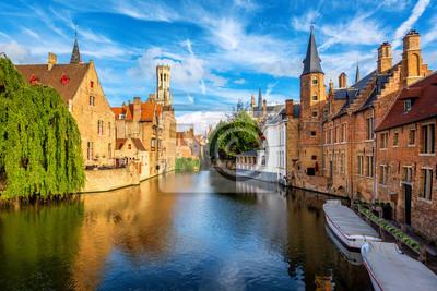 Historické staré město Bruggy, Belgie, světové kulturní dědictví UNESCO