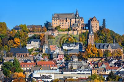 Historické středověké staré město Marburg, Německo