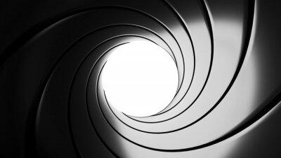 Obraz Hlaveň efekt - klasický James Bond 007 téma - 3D rendering