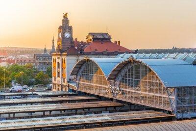 Obraz Hlavní vlakové nádraží v Praze, Hlavní nádraží, Praha, Česká republika