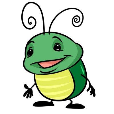 Hmyz Zeleny Brouk Kresleny Ilustracni Ojedinelych Obrazek Znaku