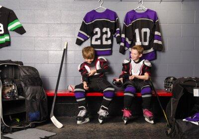Obraz Hockey Arena Boys v Rink Šatna