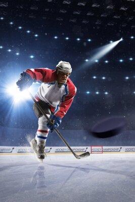 Obraz Hokejista na ledě arény