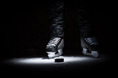 Obraz Hokejista. Nohy pouze zobrazit