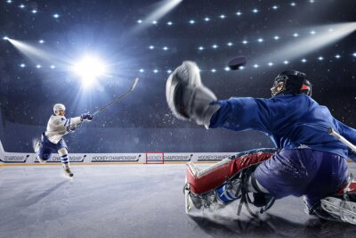 Obraz Hokejisté vystřelí puk a útoky