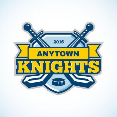 Obraz Hokejový rytířů logo týmu.
