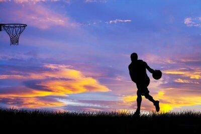 Obraz hombre jugando Baloncesto