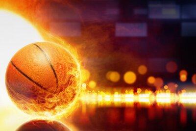 Obraz hořící basketbal