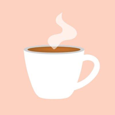 Obraz horký šálek kávy ikonu vektorové ilustrace