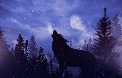 Obraz Howlin 'Wolf v Wilderness