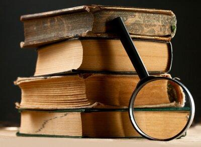 Obraz Hromadu starých knih s lupy