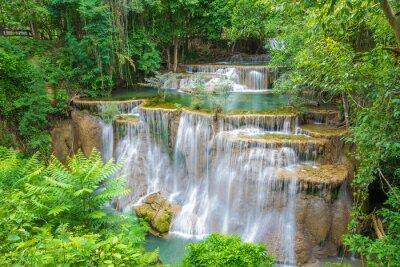 Obraz Huai Mae Khamin vodopád v provincii Kanchanaburi, Thajsko.