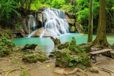 Obraz Huai Mae Khamin waterfall in Kanchanaburi province, Thailand.