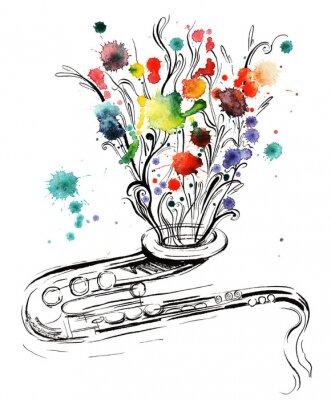 Obraz hudba