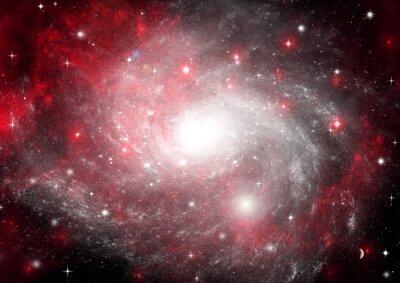 Obraz Hvězda pole v prostoru a mlhovin