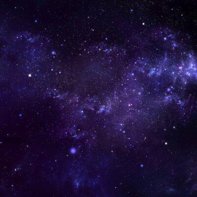Obraz hvězdné noční oblohy