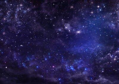 Obraz hvězdné noční oblohy hluboko ve vesmíru