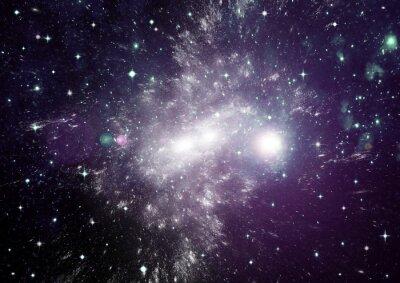 Obraz Hvězdy, prach a plyn mlhoviny v daleké galaxii