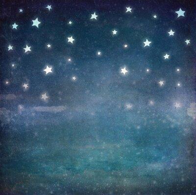 Obraz Hvězdy v noci grunge obloha, pozadí