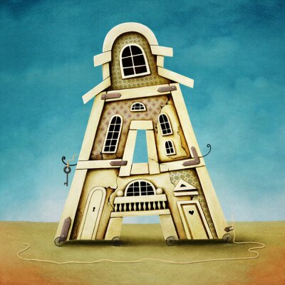 Obraz Ilustrace dopisu ve formě budov