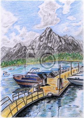 Ilustrace-Lakeside molo