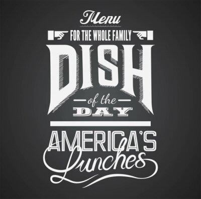Obraz Ilustrace vintage grafický prvek pro menu na tabuli