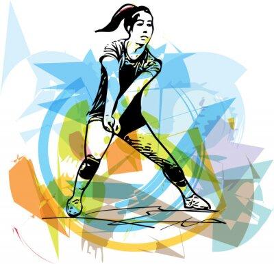 Obraz Ilustrace volejbalový hráč hraní